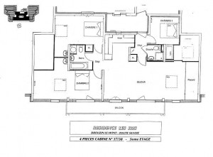 Floor plan of Les Iris