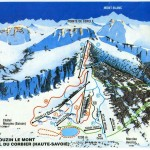 Piste map Drouzin le Mont with new snow cannons