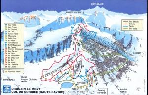 Drouzin le mont skiing piste map 2012