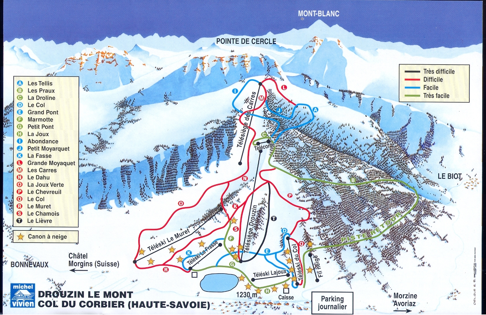 Latest Piste map for Drouzin le Mont
