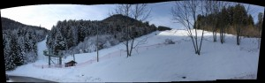 Superb snow conditions in Drouzin le Mont - the bottom of Cherveruil and Joux Verte