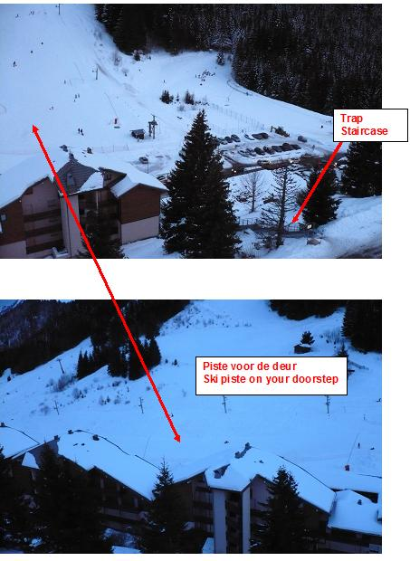 Ski pistes at Drouzin le Mont